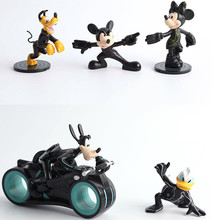 5pcs/lot Mickey Mouse Figure Toy Donald Duck Goofy dog Pluto dog Action Figure Model Kids Toys Cartoon Brinquedos Christmas Gift