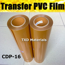 Premium gold PVC transfer vinyl CDP-16 Gold PVC Heat Transfer Film transfer pvc vinyl by Free Shipping with size:0.5x25m/Roll