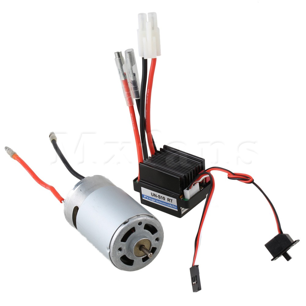 Mxfans Waterproof N10187 320A ESC with 550 Motor for RC1:10 Off-road Car Silver 2 in 1<br><br>Aliexpress