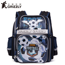 GRIZZLY Kids Cartoon Bags Children Schoolbags for Boys Orthopedic&Waterproof Backpacks Primary School Bags for Grade 1-4(China)
