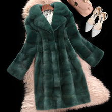 Water mink coat whole mink fur coat female mink hair Haining 2017 new long section of the big turn mantry mink fur(China)