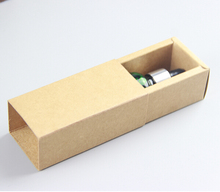 Drawer Kraft Paper Packaging box Essential Oil Perfume sample bottle Lipstick DIY Craft storage box inner size:8.5*3.5*3.5cm