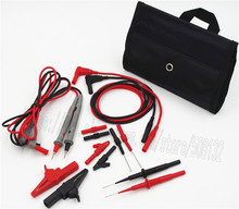 Electronic Specialt kit Automotive Insulation 4mm Banana test lead piercing/probe/crocodile clip for multimeter(China)