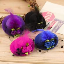 100% New Popular Hot Selling Cute Children Kid Girl Mini Hat Style Head Hair Clip Party Decor Accessories