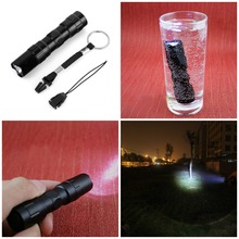 15% off High Quality LED Flashlight Lantern Straight 5 Modes Black CREE Q5 1000 Lumens AA Torch Super Bright tactical flashlight
