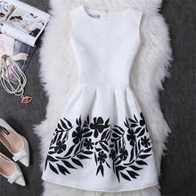 2017 negro blanco mujeres de oficina dress harajuku mini vintage summer dress ropa de trabajo ropa formal sin mangas vestidos de festa