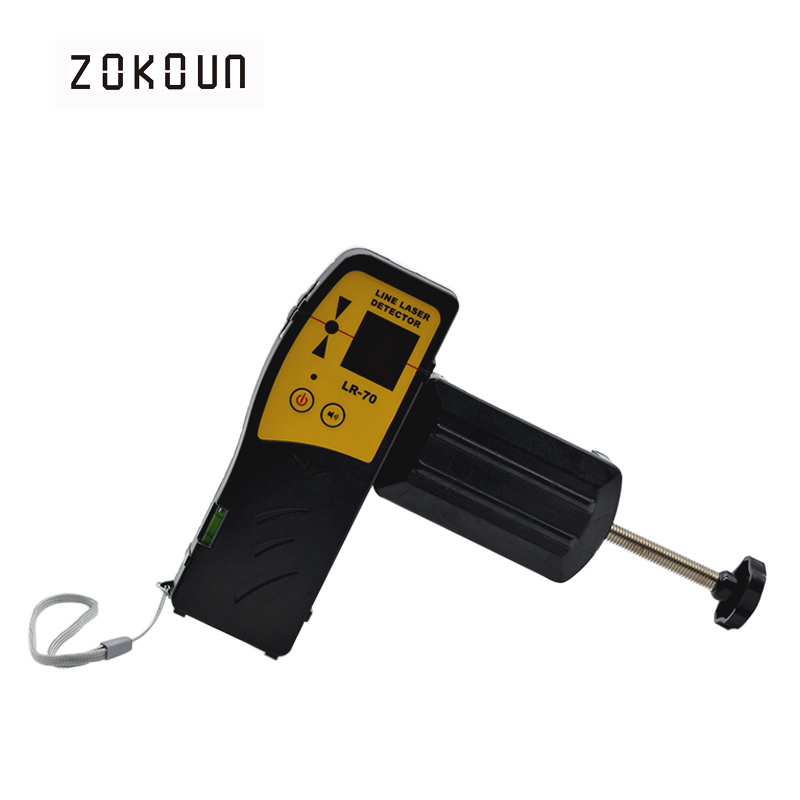 Beautiful Outdoor mode laser level available red beam cross line laser receiver or detector with Clamp