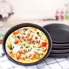 EZLIFE Metal Bakeware Pizza Pans With Non-stick Surface Professional Dish For Pizza Pie Home&pizza Shope Baking Tool GF244