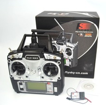 drone FlySky FS-T6 2.4G 6CH TX RX FS-R6B RC Radio Control Transmitter Receiver System(China)
