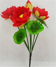 Fake Water Lily Bush Artificial FLowers Lotus for Home Garden Office Decorstion Flowers