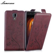 Luxury Leather Case Uhans A101 UHANS A101S 5.0 inch Flip Cover Painted Card Slot Phone Bag - NX Malls store