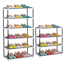 Living Room Furniture Portable Shoe Racks Folding Multilayer Non Woven Fabric Combination Dustproof Shoes Shelf