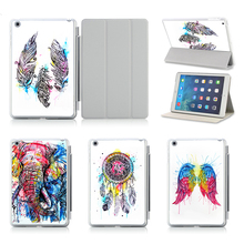 New Arrival Nice Print Coloful Dreamcatcher Cover For iPad Air 1 2 Case Ultra Thin Flip Leather Stand Sleeve For Apple iPad 5 6