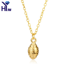 HEYu Fashion Sport Super Bowl NFL American Football Rugby Fitness Tiny Pendants Necklace Choker Chain Necklace Souvenirs