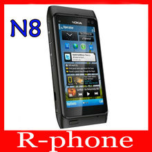 "Refurbished Original Nokia N8 Mobile Phone 3G WIFI GPS 12MP Touchscreen 3.5"" Unlocked 16GB Smartphone & One year warranty"