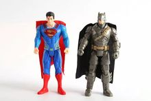 HOT Fashion 2pcs/set Batman v Superman Dawn of Justice Wonder Woman Joker Justice league action figure toys Christmas toy(China)
