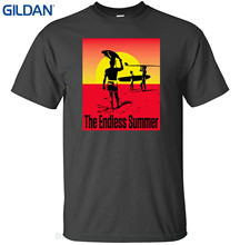 GILDAN Top Tee 100% Cotton Humor Men Crewneck Tee Shirts The Endless Summer T Shirt