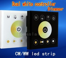 Dual white & warm white Touch Panel controller Wall mounted color Temperature controller dimmer 12V/24V 8A for WW/CW LED Strip