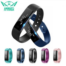 E mi Technologie smart polsband fitness armband ID115 HR Hartslagmeter Waterdichte Bluetooth 4.0 smartband met Android IOS(China)
