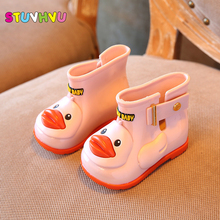 2017 newest designer Kids rain boots boys baby girls jelly children' s boots water shoes non - slip raincoat shoes 9 colors