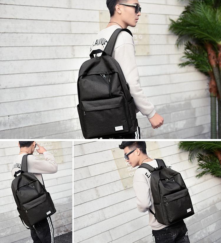 حقيبة مدرسية سوداء USB 4