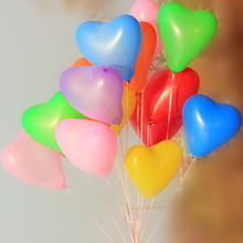 100 pcs Lovely Cute Heart Balloons Pink Hearts LATEX Helium Ballon for Party Home Decoration Free shipping