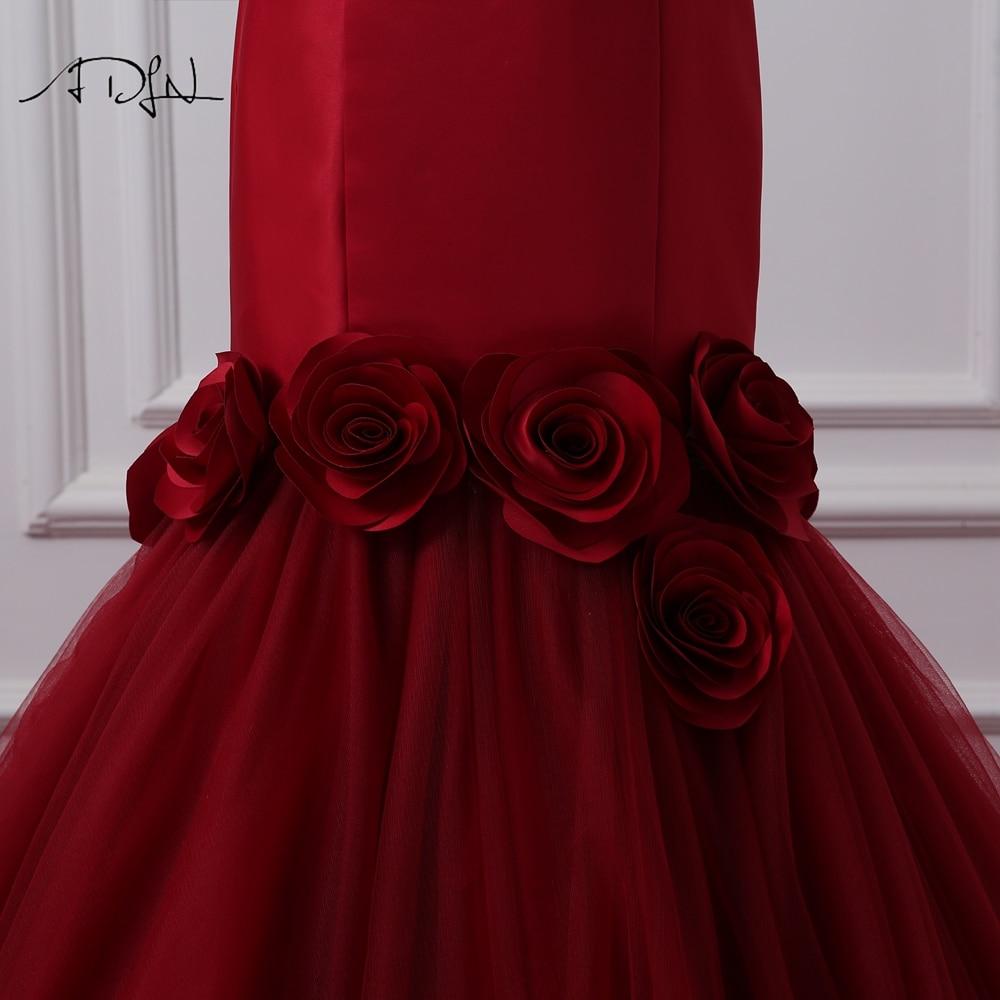 HTB1Kh19SXXXXXcfXFXXq6xXFXXXd - ADLN Mermaid Burgundy Wedding Dresses Photography Sweetheart Sleeveless Satin Bridal Gowns with Flowers Vestido de Novia