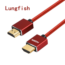 Lungfish High Speed HDMI Cable with ARC Ethernet Newest Standard Supports 1080p 3D Audio Return, Ultra HD 1m 2m 3m 5m 10m(China)