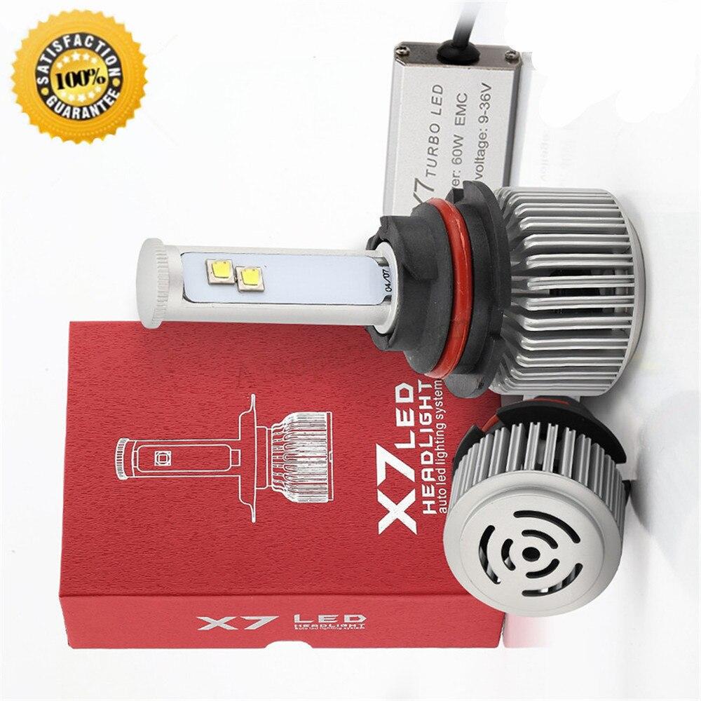 (2pcs/lot) X7 9004 CP7545 Super Bright Auto Car 120W 6000K 9600LM LED Headlight Bulbs Headlamp Conversion Kit IP68 Waterproof<br><br>Aliexpress