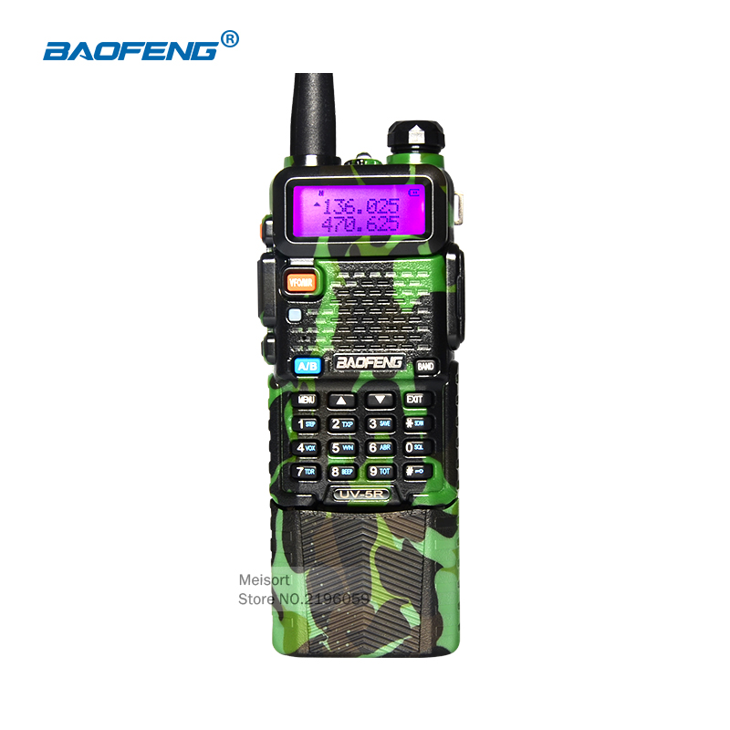 BaoFeng Walkie Talkie 10km BF-UV5R Camouflage CB Radio Comunicador 136-174 / 400-520 Mhz Dual Band With 3800 mAh Li-ion Battery(China (Mainland))