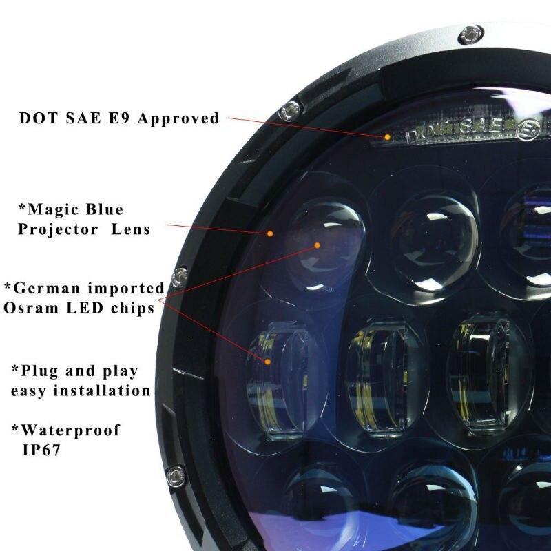 130W 7inch LED Headlight3800
