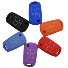 6 Color Silicone Key Cover For Vauxhall Opel Corsa Astra Vectra Signum 2 Buttons Silicone Remote Key Cover Case Fob
