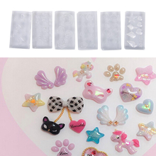 Handmade 6Pcs/set DIY Silicone Nail Art Templates Pattern Manicure Beauty Nails Art 3D Nail Art Molds Acrylic Mold(China)