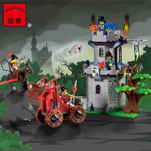 Low Price Enlighten Castle Series Knight Carriage Building Block The Citadel of jungle 1019 Active Eduction Kid Toys for Gift