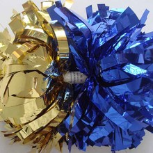"Professional Cheerleader Pom poms 3/4""x 6"" Metallic Solid Mixed Baton Handle 180g Competion Game Costume Poms"