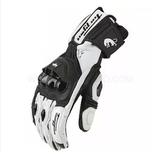 Hot Cool Free shipping models AFS18 motorcycle gloves racing gloves Genuine leather gloves full finger(China)