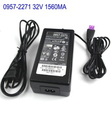 0957-2271 32V 1560MA Original AC Adapter Power Supply Charger For HP Printer 0957-2105 0957-2259 0957-2230 With EU/US AC Cable