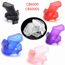 Buy Breathable Design Plastic Male Chastity Device Cock Cage 3 Base Rings Chastity Cage Virginity Lock Sex Toys Men G7-3-11