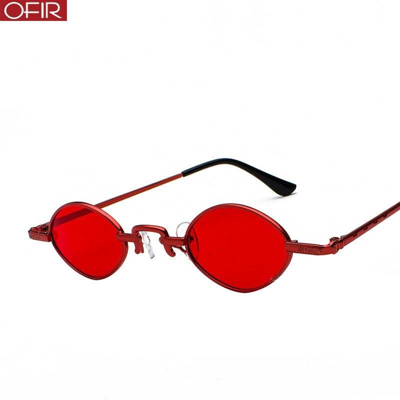 OFIR Lady Oval Metal Frame Sunglasses Fashion Driving Sunglasses Women Brand Designer Retro Avant-garde Eyewear 2019 New Uv400