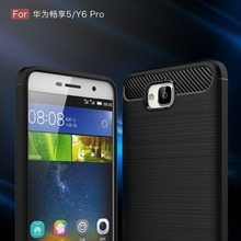 For Huawei Y6 Pro The Latest Carbon Fiber Bamboo Phone Cover Case For Huawei Enjoy 5 Honor 4C pro Luxury Mobile Phone Bag Shell(China)