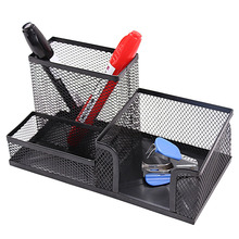 Mesh Desk Supplies Organizer 3 Sections Office Accessories Storage , 5 Colors Choose