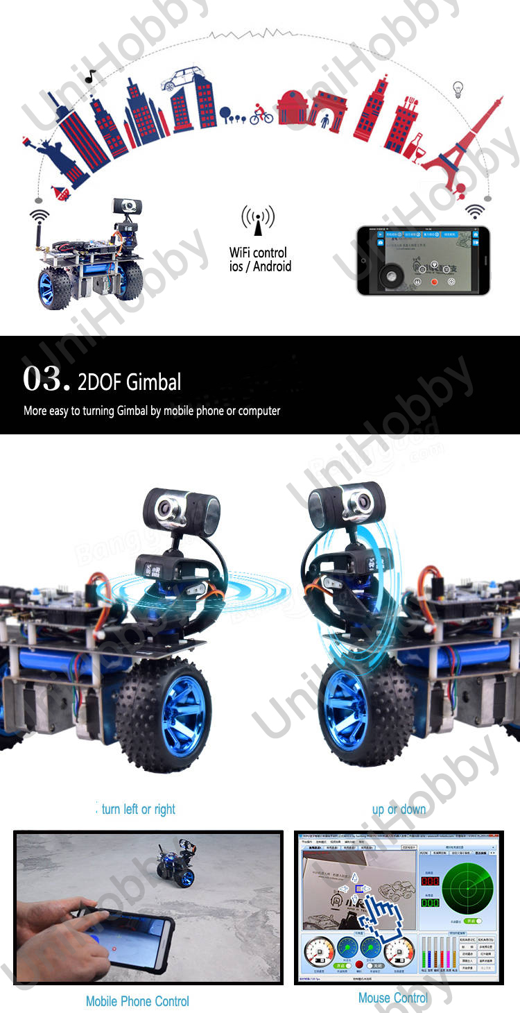 Wifi Robot STM32 Self-Balancing Smart Roly Robot Car Wifi Video Module APP Control Finished Version (5)