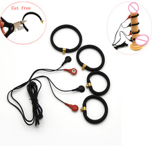 Buy Electro Shock Penis Rings,Cock Enlargment Extension Rings,Electric Shock Orgasm Cock Ring,Penis Physiotherapy Sex Toys Men