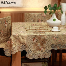 Luxury fashion fabric water-soluble lace table cloth table runner sofa towel sofa cushion tablecloth chair covers cushion set