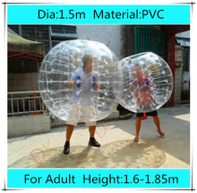 Dia 1.5m PVC bubble soccer for adults,bubble football bumper inflatable human hamster ball, zorb ball suit for sale outdoor toy