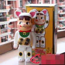 Vinyl Doll Bearbrick Be@rbrick  400% 28CM Milky Lucky Cat PVC Vinyl Art Figure with retail box
