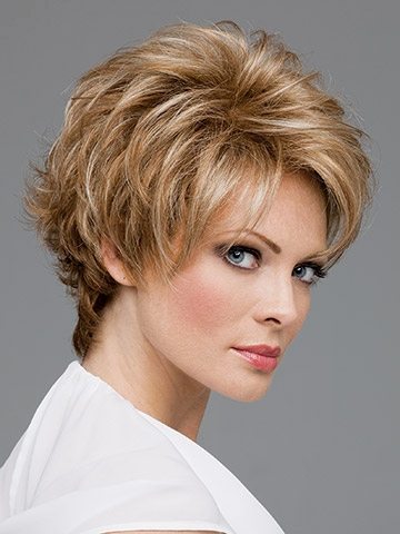 Womans brown and ash blonde mix wig short Wavy hair HEAT - RESISTANT FIBER Quality Assurance free shipping<br><br>Aliexpress