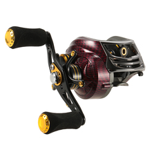 FISHDROPS 17+1 Ball Bearings Left / Right Hand Bait Casting Fishing Reel Gear Ratio 6.3:1 Baitcasting Reel Fishing Tackle Tool