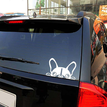 1PC 15*10 2018 Newest Design Funny Car Stickers Peeking Dog for Truck Decor Car Door Body Car Accessories(China)