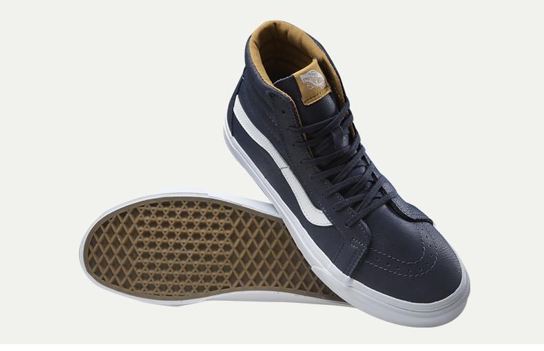 Original Vans Blue Men's Skateboarding Shoes Sport Shoes Sneakers